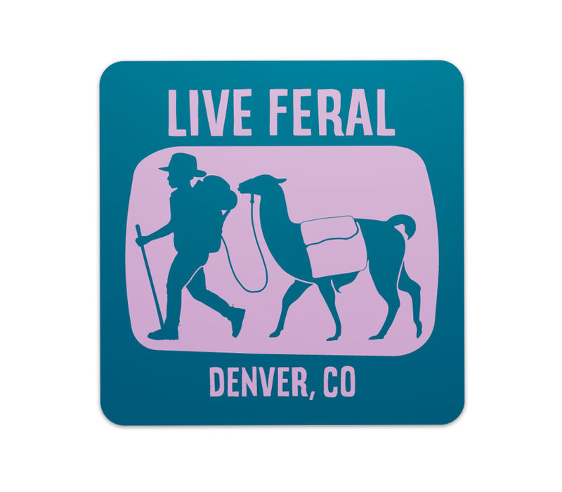 FERAL Live FERAL Llama Sticker Blue | Purple