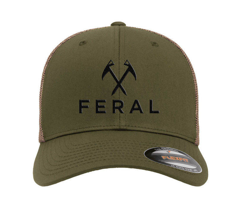 FERAL Low Profile Embroidered Trucker Hat