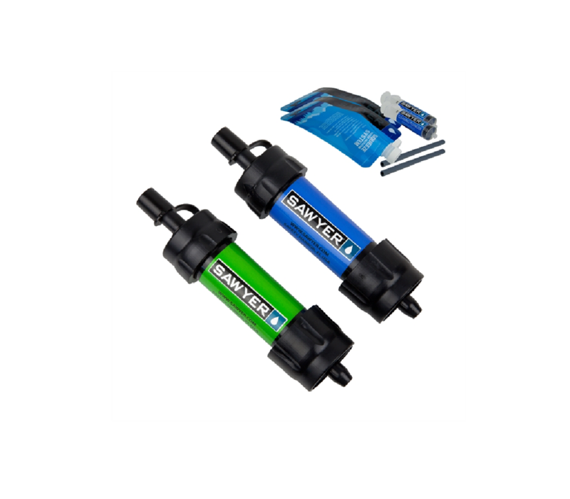Sawyer Mini Water Filtration System Twin Pack Blue | Green