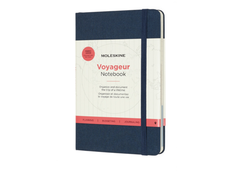 Moleskine Moleskine Voyageur Hard Cover, Medium, 4.5 x 7, Ocean Blue
