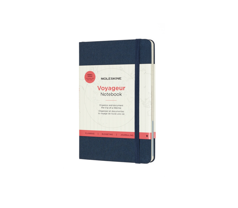 Moleskine Voyageur Hard Cover, Medium, 4.5 x 7, Ocean Blue