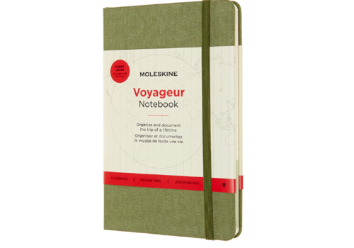 Moleskine Moleskine Voyageur Hard Cover, Medium, 4.5 x 7, Elm Green