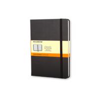 Moleskine Classic Hard Cover Notebook, Ruled, Pocket Size, Black