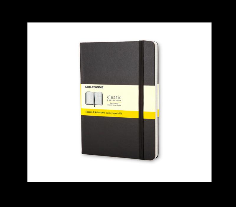 Moleskine Classic Hard Cover Notebook, Squared, Pocket Size, Black