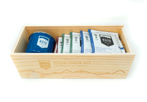 Kuju Coffee Kuju Coffee Wood Pour Over Gift Set
