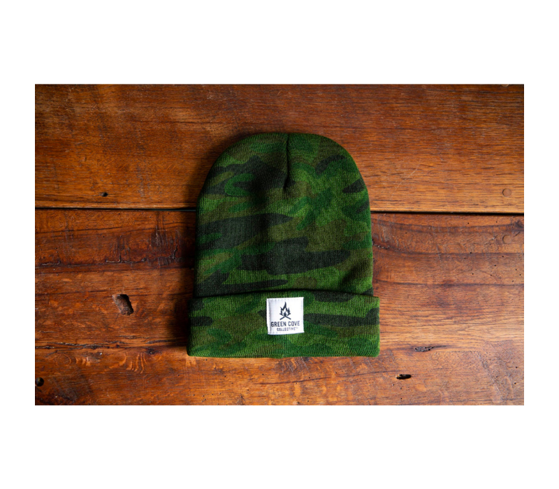 Green Cove Collective Watch Beanie Woodland Camo