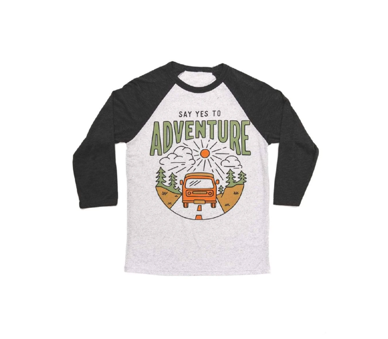 Keep Nature Wild Say Yes to Adventure Baseball Tee