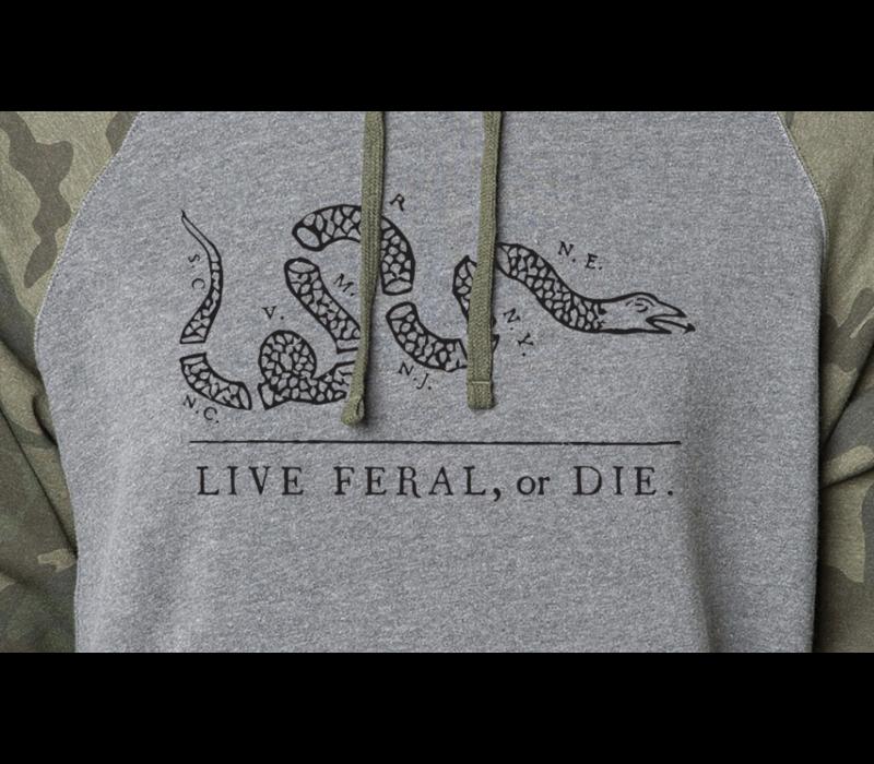 FERAL Live FERAL or Die Camo Hoodie