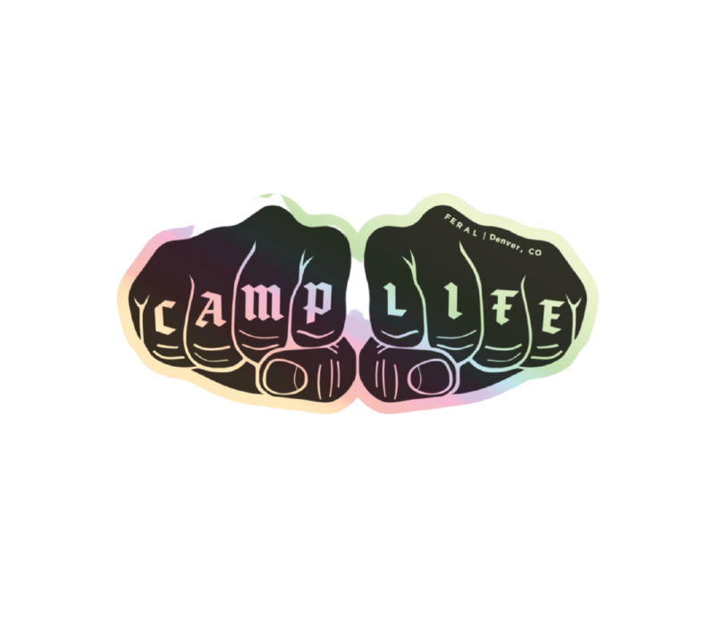 FERAL Camp Life Holographic Sticker