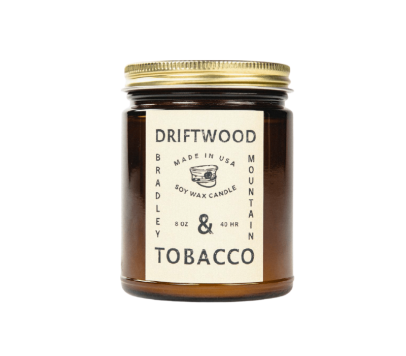 Bradley Mountain Driftwood & Tobacco Candle