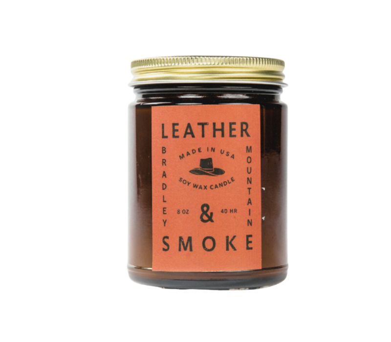 Bradley Mountain Leather & Smoke Candle