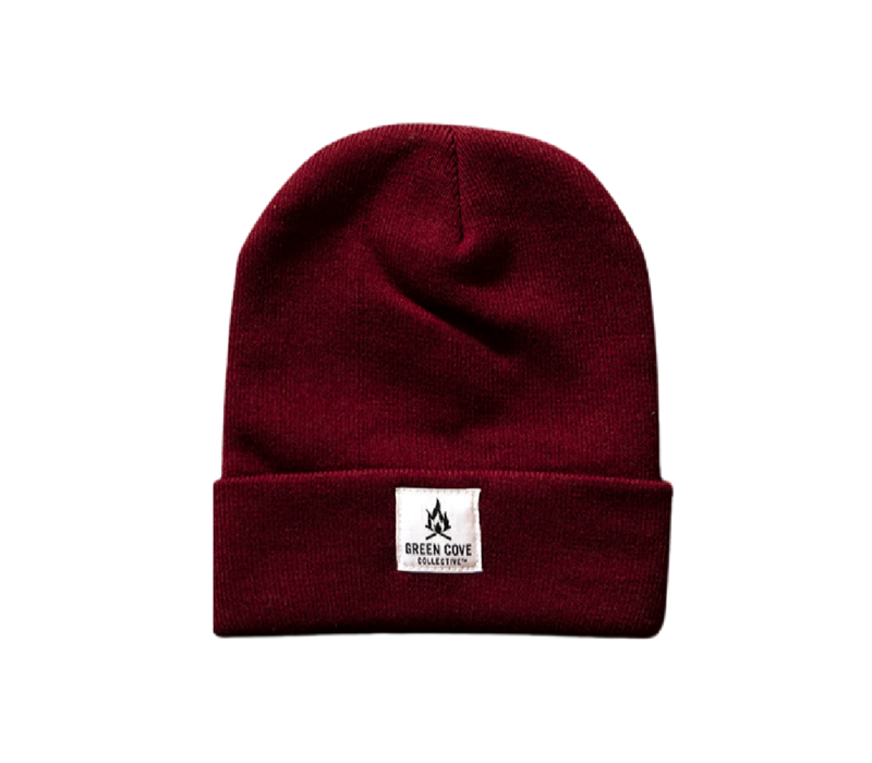Green Cove Collective Watch Beanie Wine