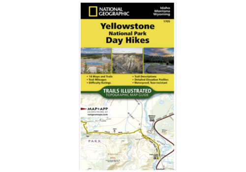 National Geographic National Geographic #1705 Yellowstone National Park Day Hikes Map