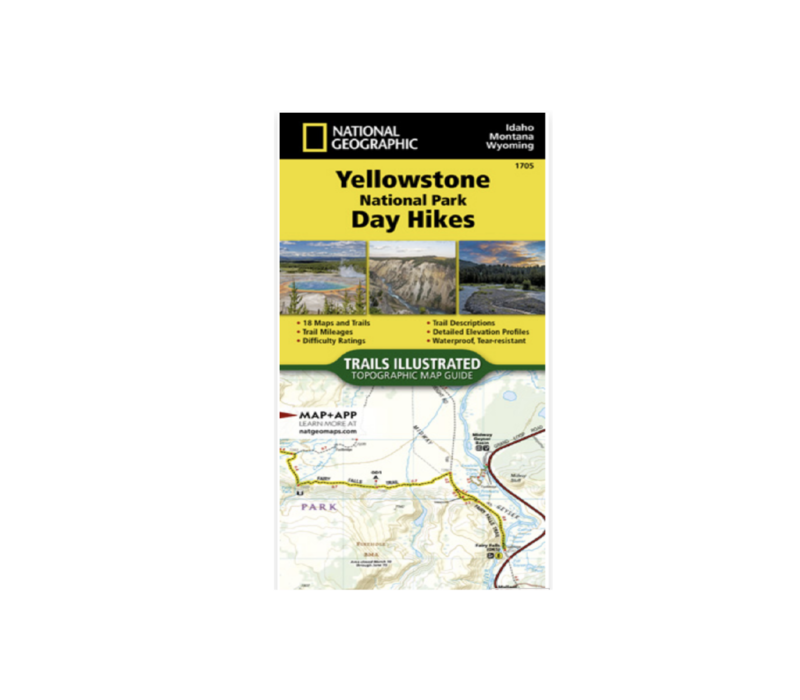 National Geographic #1705 Yellowstone National Park Day Hikes Map