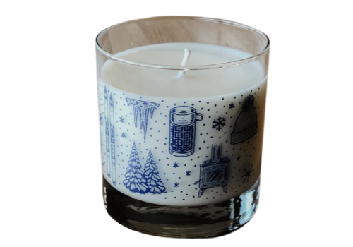 Moore Collection Moore Collection Winter Time Rocks Glass Candle