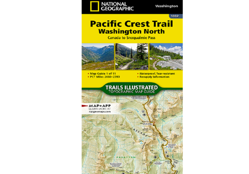 National Geographic National Geographic #1002 | Pacific Crest Trail North Map