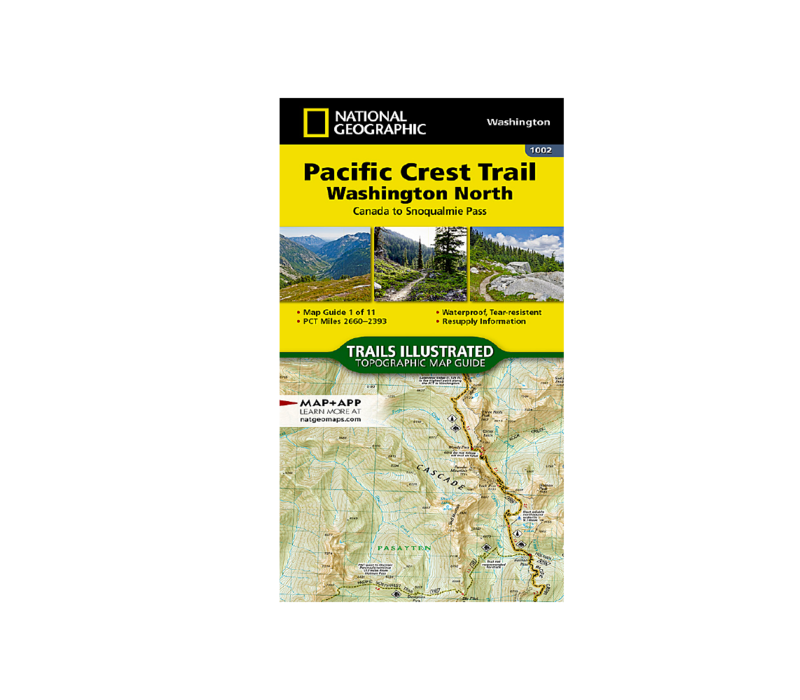 National Geographic #1002 | Pacific Crest Trail North Map
