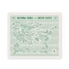 "Fell Fell National Parks Screen Print Map 18"" x 24"""
