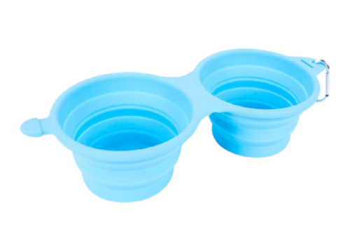 Bark Brite Bark Brite Collapsible Double Dog Bowl