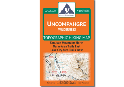 Outdoor Trail Maps Uncompahgre Wilderness Map