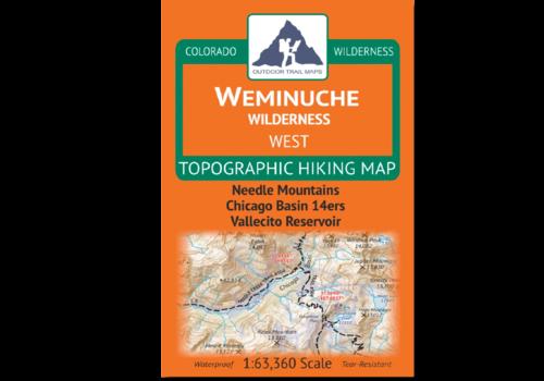 Outdoor Trail Maps Weminuche Wilderness West Map