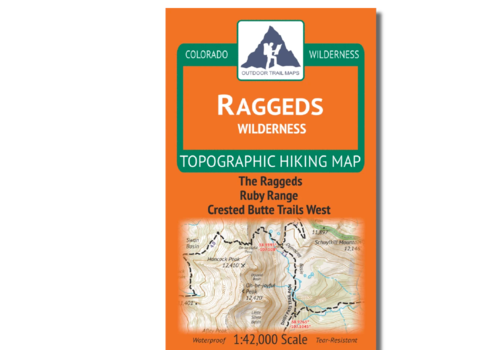 Outdoor Trail Maps Raggeds Wilderness Map