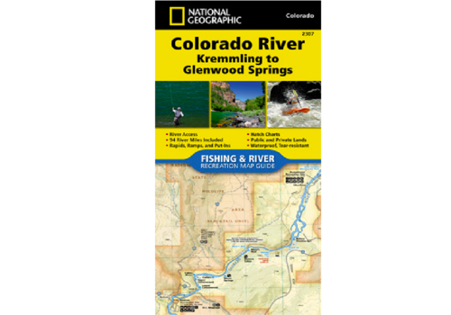 National Geographic National Geographic 2307: Colorado River Kremmling to Glenwood Springs Map