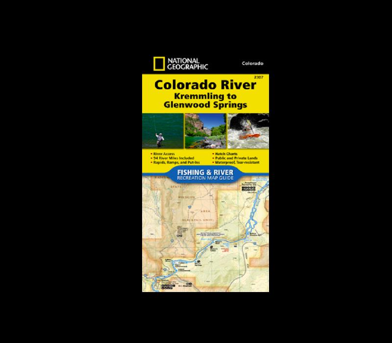 National Geographic 2307: Colorado River Kremmling to Glenwood Springs Map