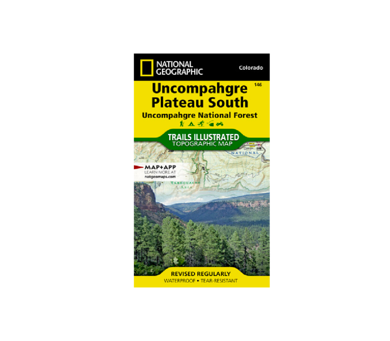 National Geographic 146: Uncompahgre Plateau South Map
