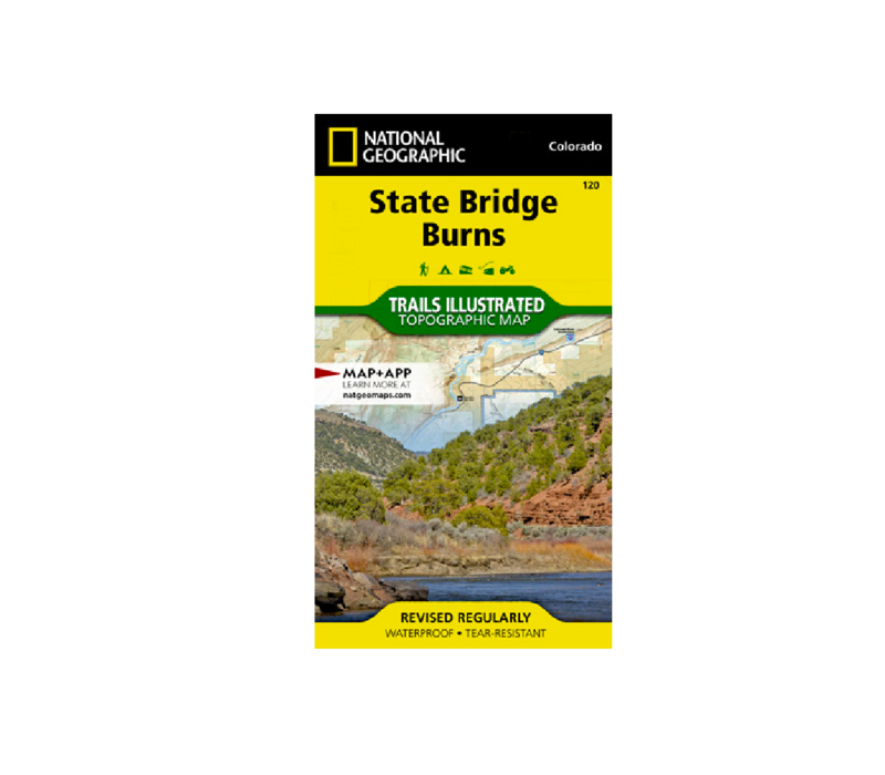 National Geographic 120: State Bridge   Burns Map