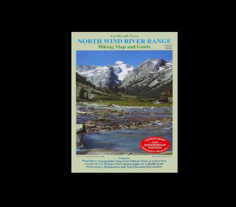 Earthwalk Press North Wind River Range Map & Guide