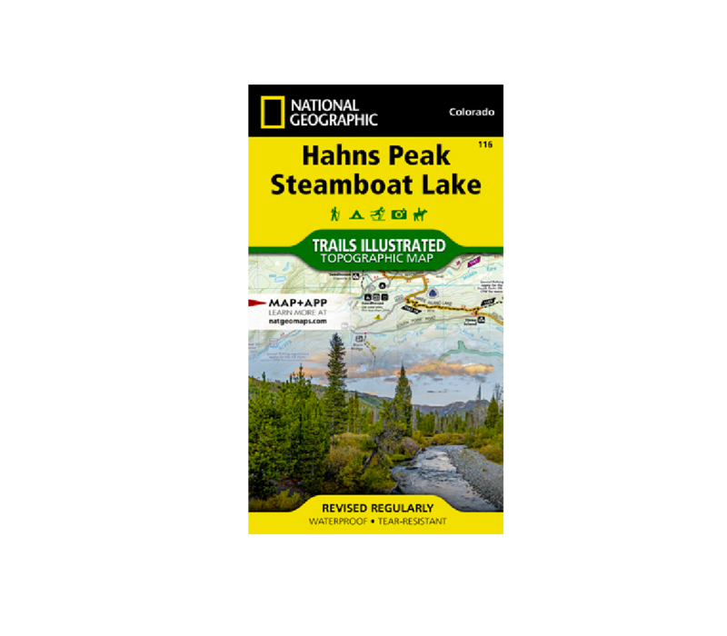 National Geographic 116: Hahns Peak | Steamboat Lake Map