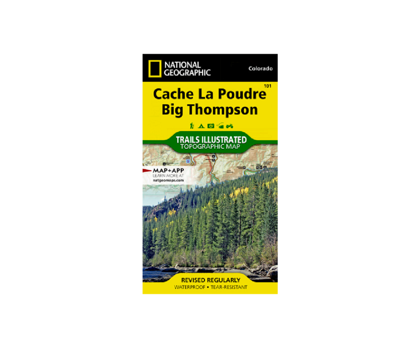 National Geographic 101: Cache Le Poudre   Big Thompson Map