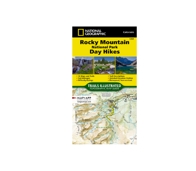National Geographic Rocky Mountain National Park Day Hikes Map