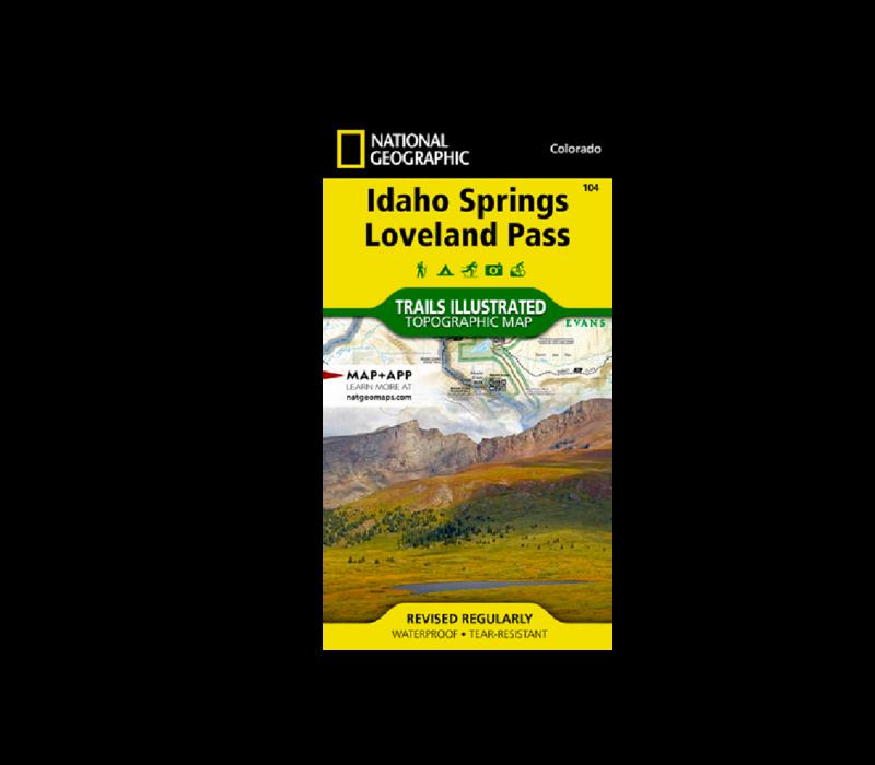 National Geographic 104: Idaho Springs | Loveland Pass Map