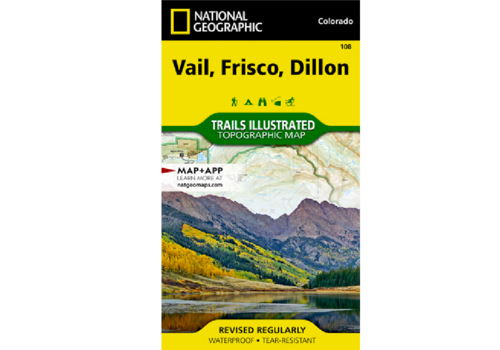 National Geographic National Geographic 108: Vail | Frisco | Dillon Map