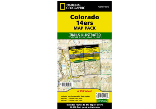 National Geographic Colorado 14er Map Pack