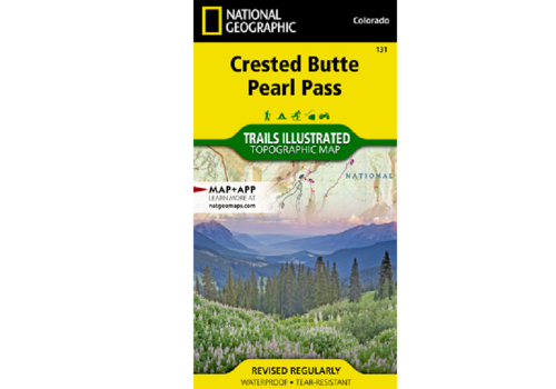 National Geographic National Geographic 131: Crested Butte | Pearl Pass Map