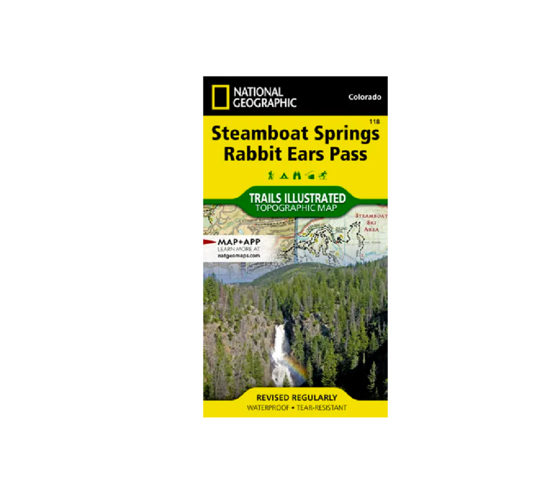 National Geographic 118: Steamboat Springs | Rabbit Ears Map
