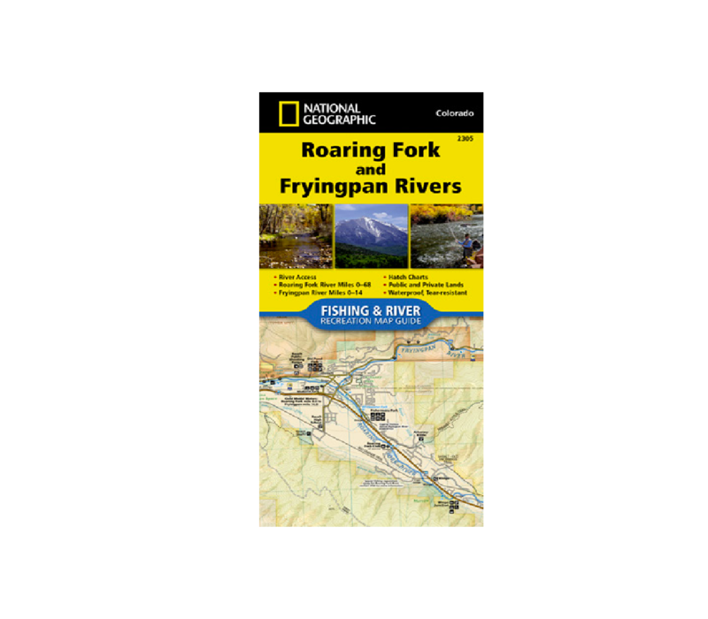 National Geographic 2305 Roaring Fork and Frying Pan Rivers Map