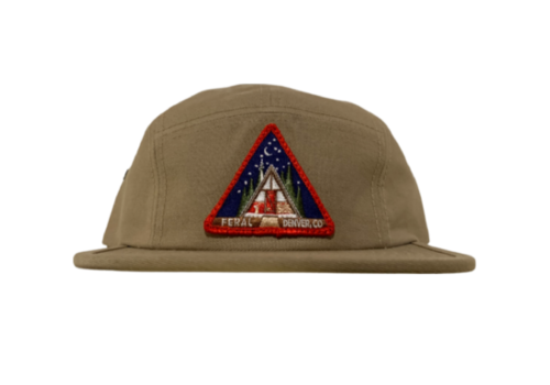 FERAL FERAL A-Frame Patch Jockey Hat