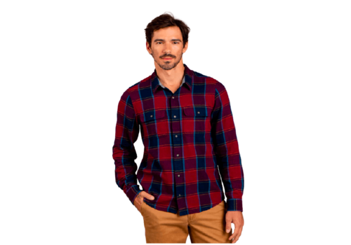 Toad & Co Toad & Co. Men's Indigo Long Sleeve Slim Flannel