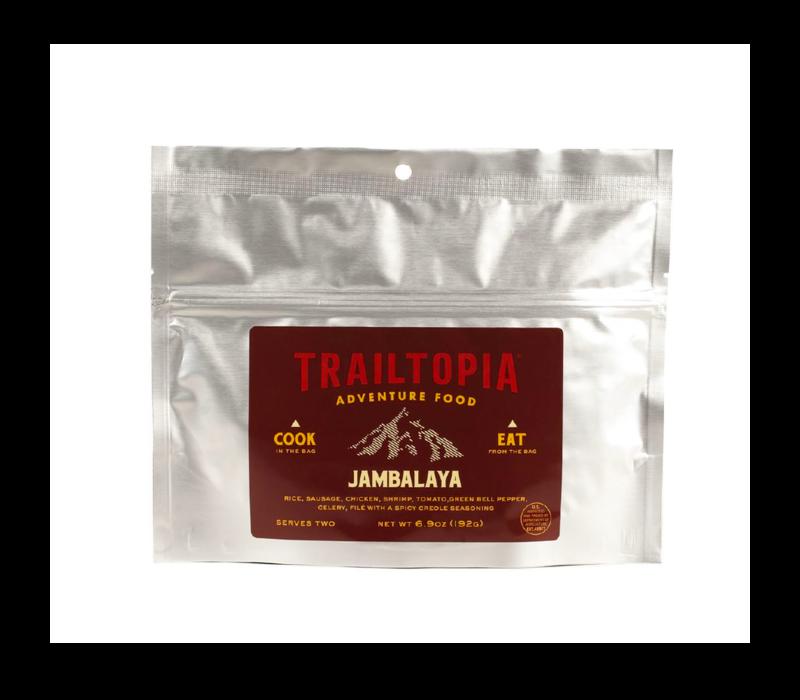Trailtopia Jambalaya Gluten Free Freeze Dried Meal 2 Serving