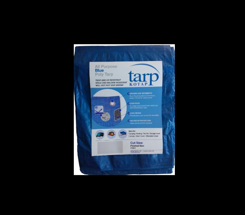 Kotap Blue Poly Tarp 8' x 10'