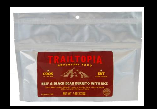 Trailtopia Trailtopia Beef & Black Bean Burrito Freeze Dried Meal 2 Serving