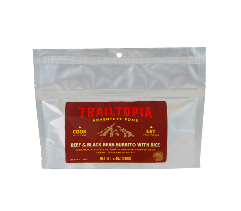 Trailtopia Beef & Black Bean Burrito Freeze Dried Meal 2 Serving
