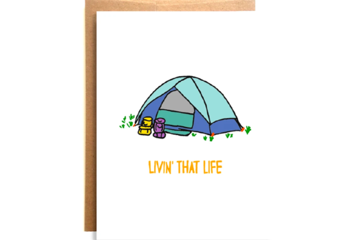 Compass Paper Co. Compass Paper Co. Livin that Life Greeting Card