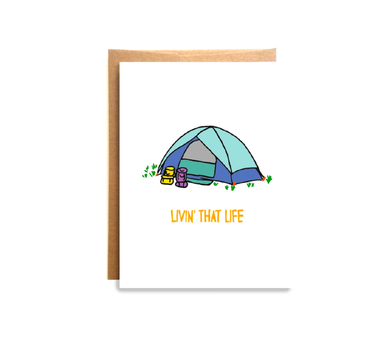 Compass Paper Co. Livin that Life Greeting Card