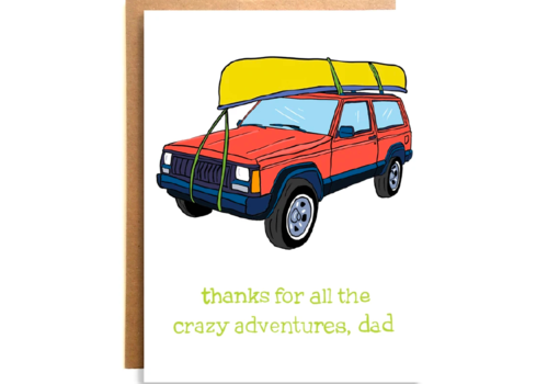 Compass Paper Co. Compass Paper Co. Crazy Adventures Greeting Card