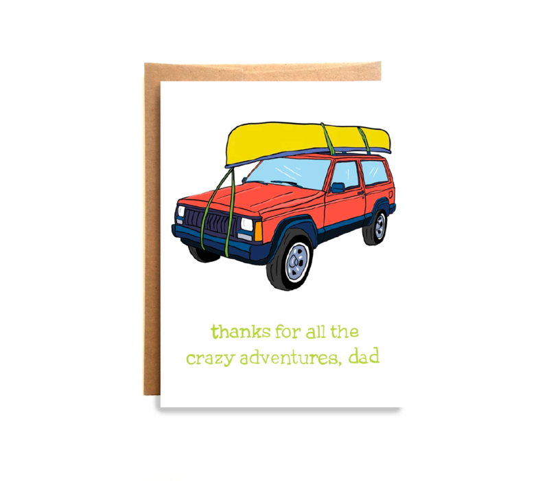 Compass Paper Co. Crazy Adventures Greeting Card